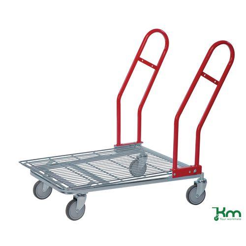 Konga nesting stock trolleys with foldaway flat shelf