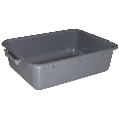 Stainless steel bin clearing trolley accessories - Rectangular tote box