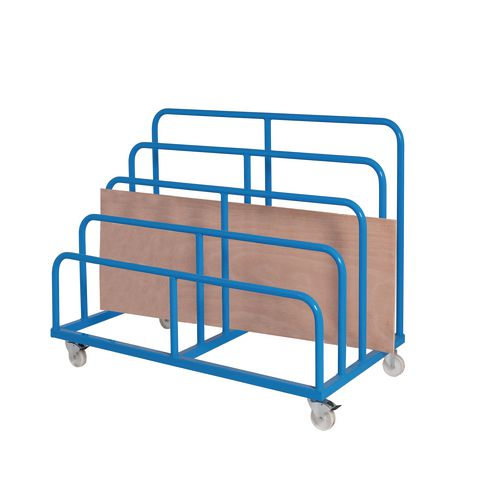 Mobile multi-height sheet rack