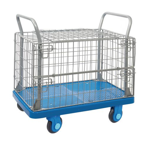 Mesh surround security truck with silent wheels