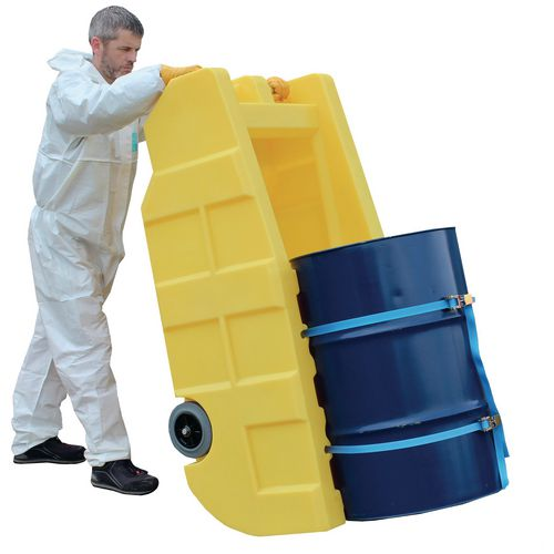 Drum dispensing trolley with sump