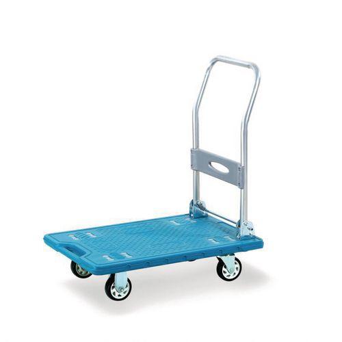 Lightweight plastic platform truck, with low noise wheels, 150kg capacity