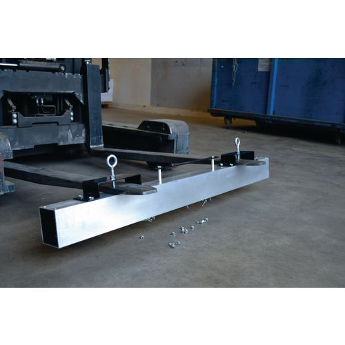 Magnetic fork mounted sweeper