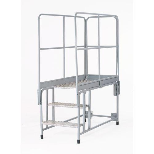 Galvanised universal platform -  with optional handrails
