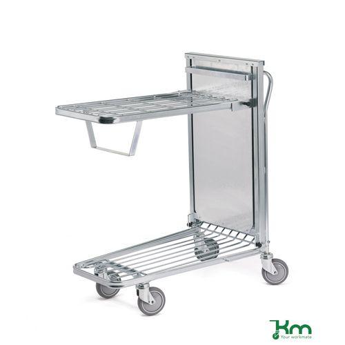 Konga self levelling stock trolley