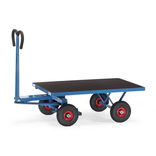Fetra trailers for hand powered towing - Turntable trucks with flat platform