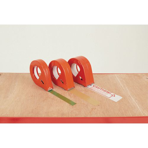 Hand held enclosed tape dispensers