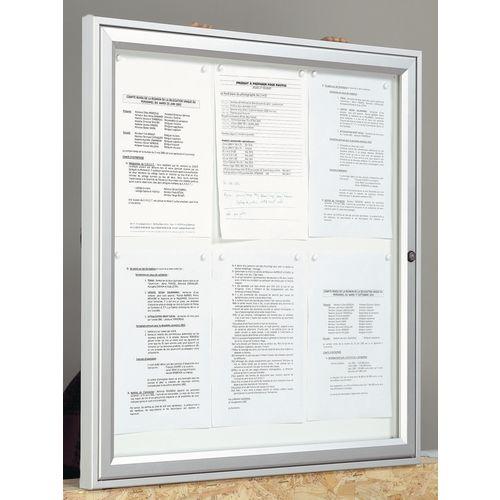 Outdoor lockable magnetic noticeboard