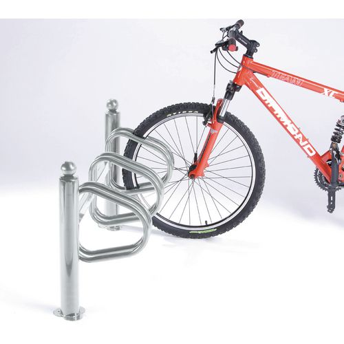 Post mounted cycle stand - Steel post