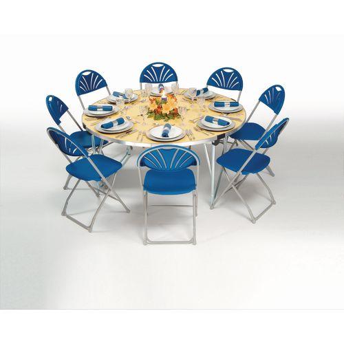 Aluminium framed round folding tables
