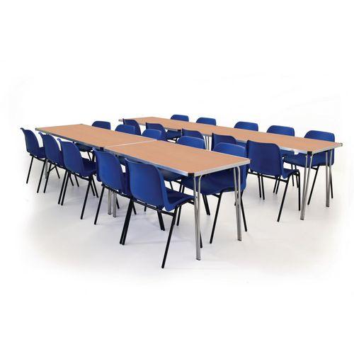 Aluminium framed folding tables - Height 760mm