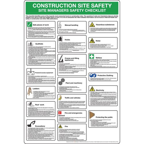 Construction site safety poster