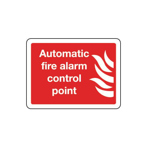 Automatic fire alarm control point sign