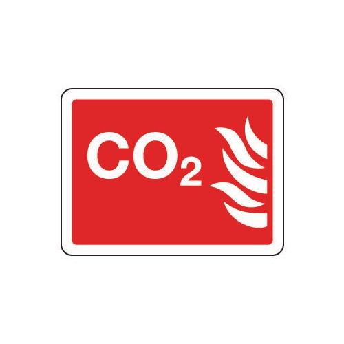 Fire fighting equipment signs - CO?