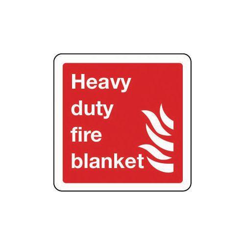 Heavy duty blanket sign