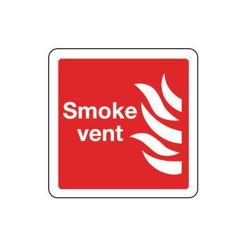Smoke vent sign