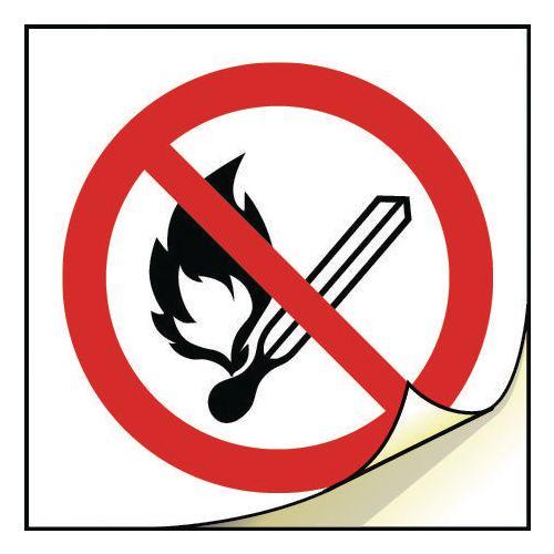 General safety labels - No naked lights