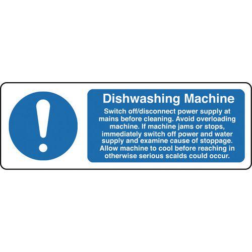 Food processing and hygiene signs - Dishwashing machine