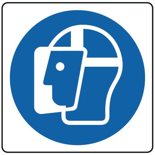 Face protection sign