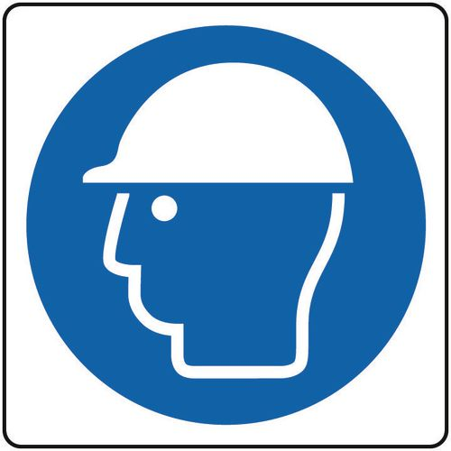 Safety helmet sign