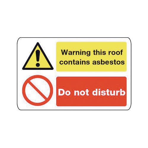 Asbestos acm's - Warning this roof contains asbestos