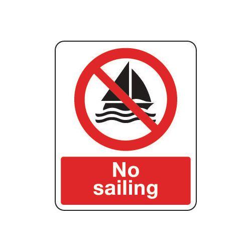 National water safety signs - No sailing
