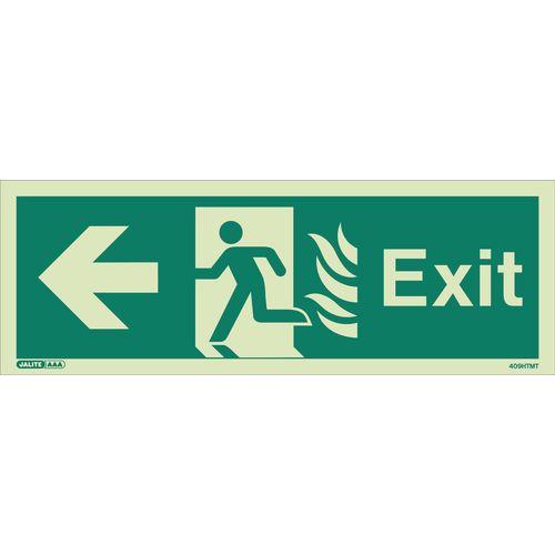 Photoluminescent NHS Estates photoluminescent exit signs - Exit arrow left