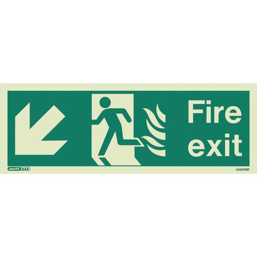 Photoluminescent NHS HTM 65 - Fire exit arrow down left