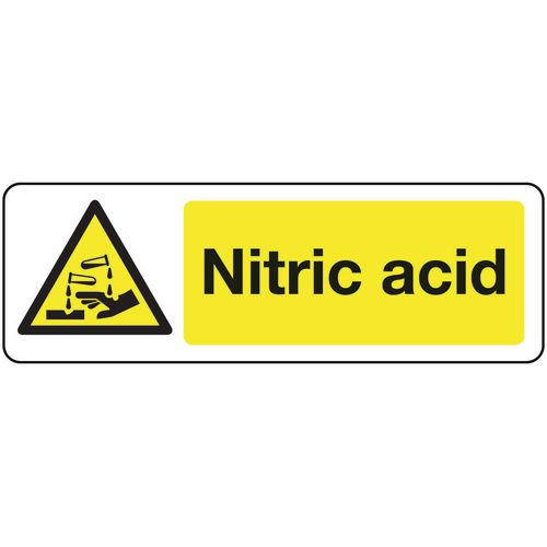 Chemical and substance hazard signs - Nitric acid