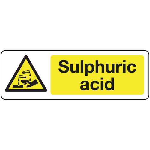 Chemical and substance hazard signs - Sulphuric acid
