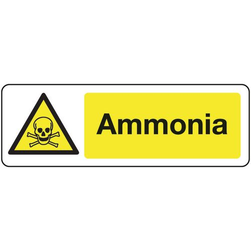 Chemical and substance hazard signs - Ammonia