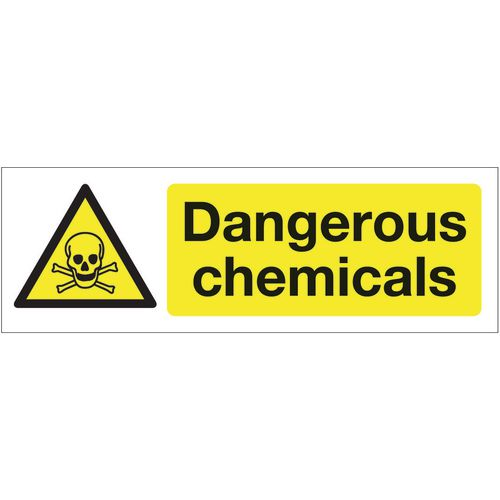Chemical and substance hazard signs - Dangerous chemicals
