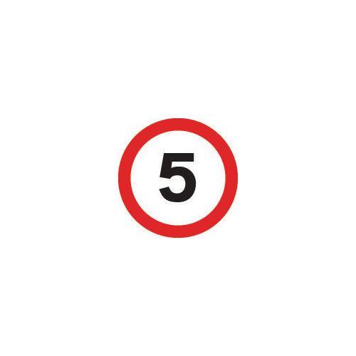 Road traffic signs - 5 MPH