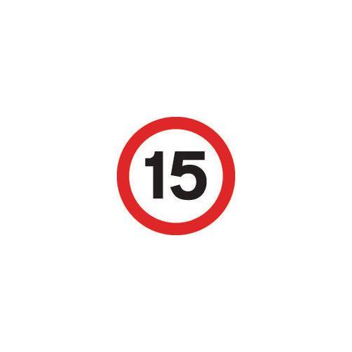 Road traffic signs - 15 MPH