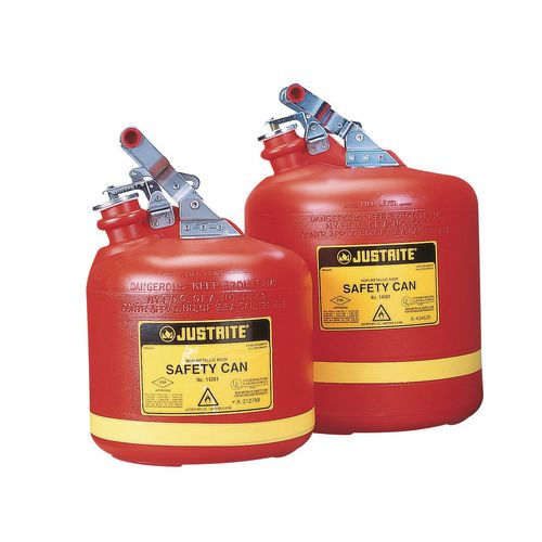 Justrite polyethylene safety cans flammable liquid