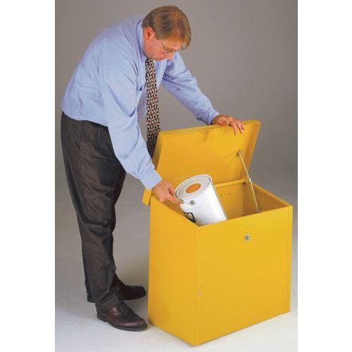 Hazardous storage bins