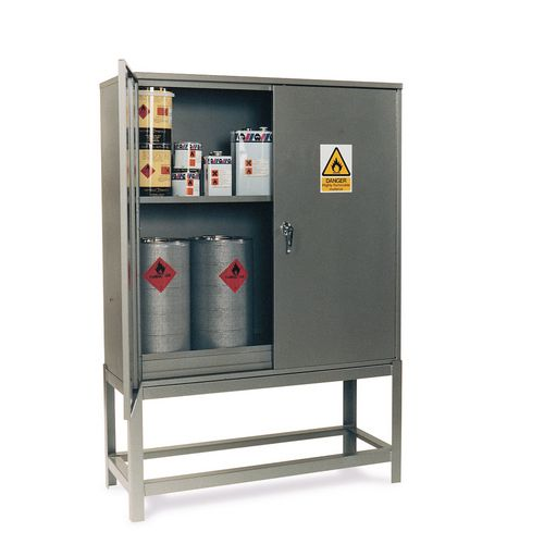 Petroleum storage cabinets with stand