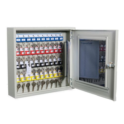 Glass fronted key cabinets