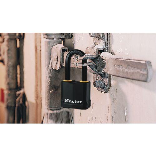 Laminated steel padlocks