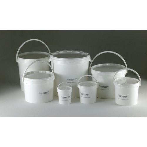 Round tapered buckets with lids