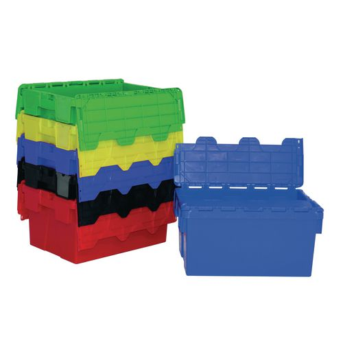 Colour coded attached lid containers - 54L