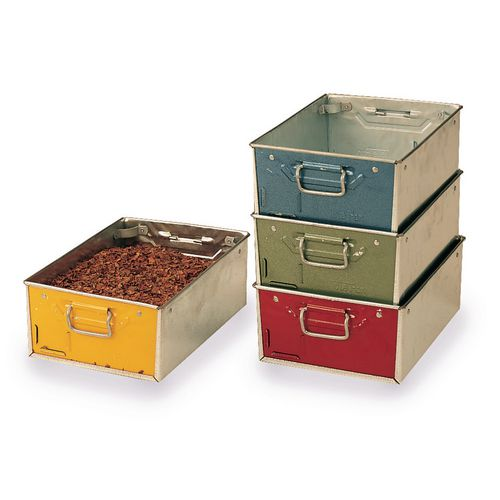 Colour coded and galvanised tote pans
