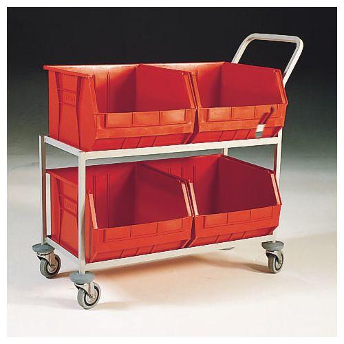 Mobile storage trolleys - Four bin