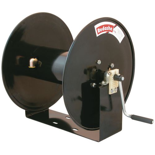 Manual rewind compressed air/water/pressure wash
