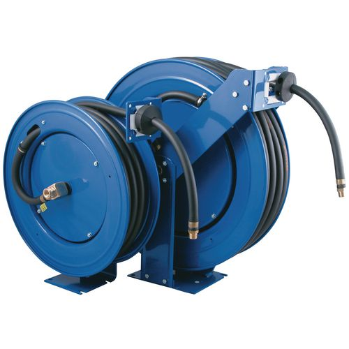 Spring rewind hose reel for air/water (fitted hose supplied)