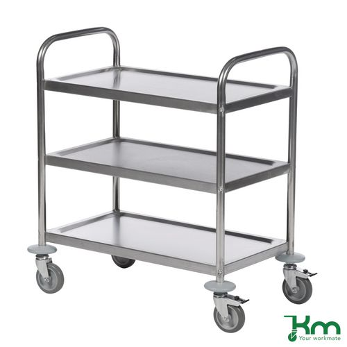Economy stainless steel catering/clearing trolleys