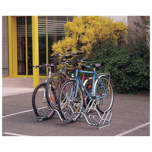 Heavy duty twin level floor mounted cycle rack
