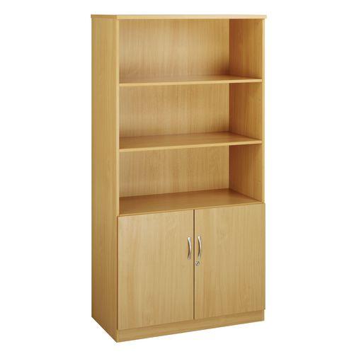 Deluxe combination bookcase