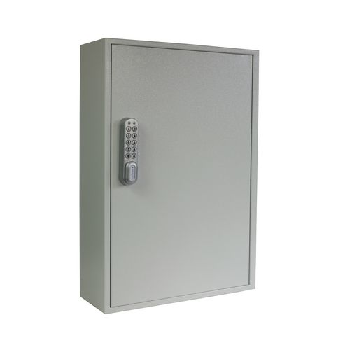 Key cabinet with push button electronic cam lock