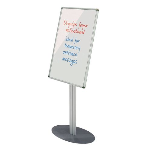Sheild® Freestanding foyer whiteboard